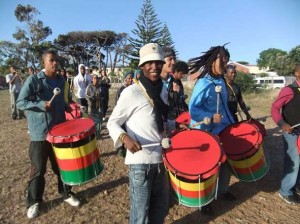 Junior Ramblers from Ocean View and Sentinels from Hout Bay practicing last Thursday night