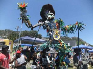 Climate change champion Father Time dancing at the Kommetjie Fair last Saturday