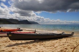 Kayaks on Simon's Town's Long Beach (Photo: D. Goldman)