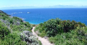 Smitswinkel Bay - path and view of False Bay