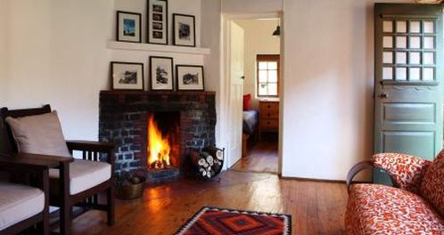 Cape Point Cottage Fireplace