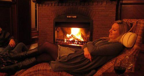 Villa St James Lounge fireplace