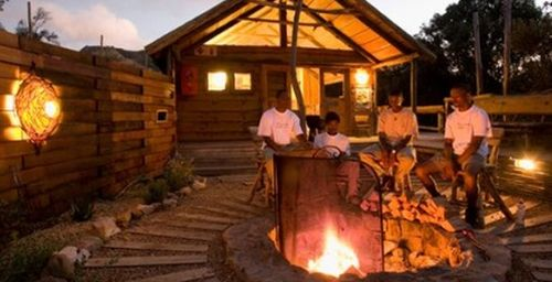 Fireplace at Tented Camps