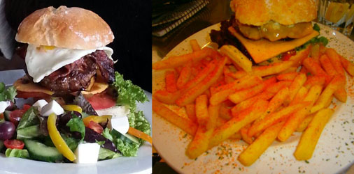 Dario's Cafe Gourmet Burger with Spicy Fries