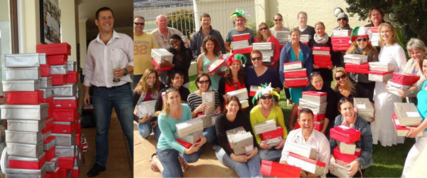 Santa Shoebox Project Packing Party