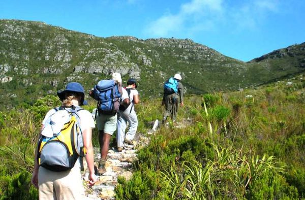 Hiking in the fynbos:  Photo: Andy Higgenbotham