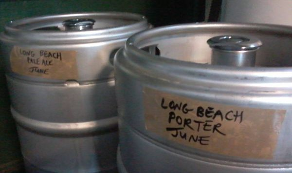 Long Beach Brewers First official Kegs - a pale ale and a porter!