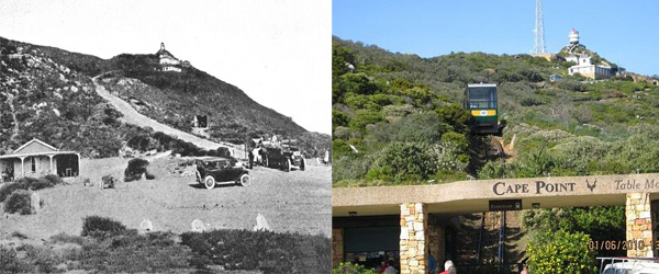 Cape Point Terminus 1920's and Today