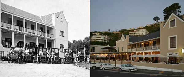 Chapman's Peak Beach Hotel in 1910 and Today