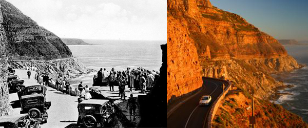 Chapmans Peak Drive- Open to the public 6 May 1922 and Today