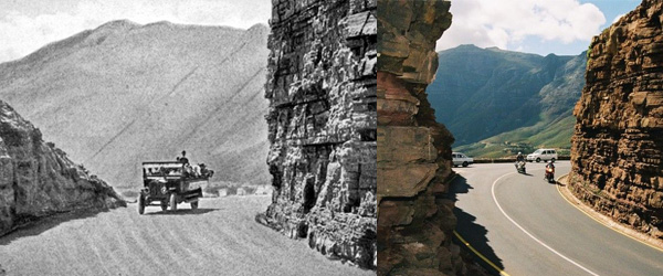 Chapmans Peak Drive 1922 and Today