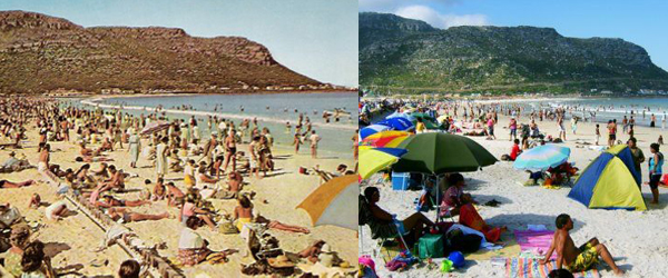 Fish Hoek Beach Early 1960's and Today