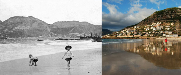 Glencairn Beach 1917 and today