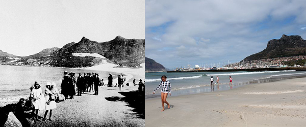 Hout Bay Beach 1920's and Today