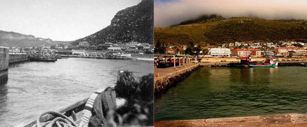 Kalk Bay Harbour 1937 and today
