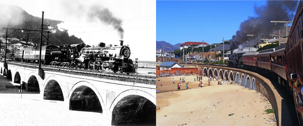 Kalk Bay Viaduct 1927 and today