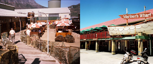 Mariners Wharf & Wharfside Grill in 1986 and Today