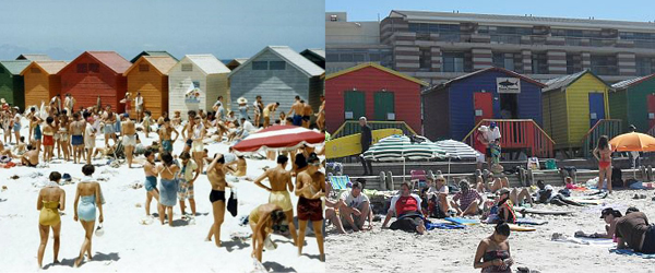 Muizenberg Beach 1953 and Today