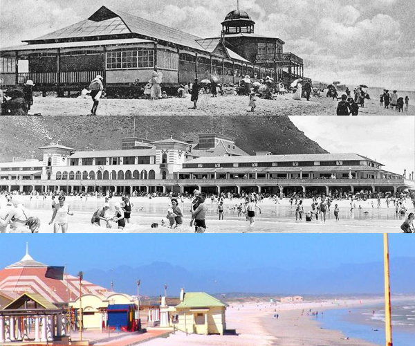 Muizenberg Pavilion Early 1900's, 1950's and Today