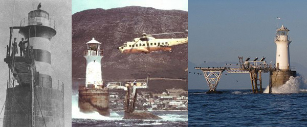 Roman Rock Lighthouse 1910, 1992 and Today
