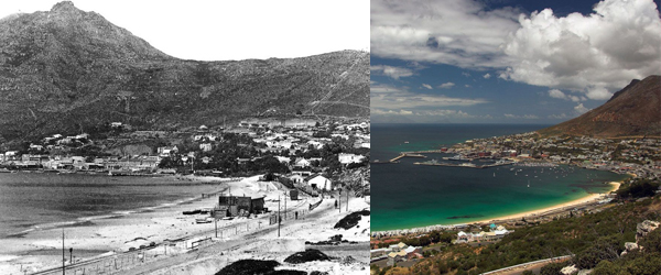 Simon's Town Early 1900's and Today