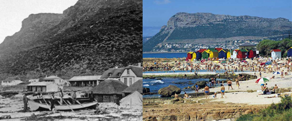 St James Beach c1900 and today