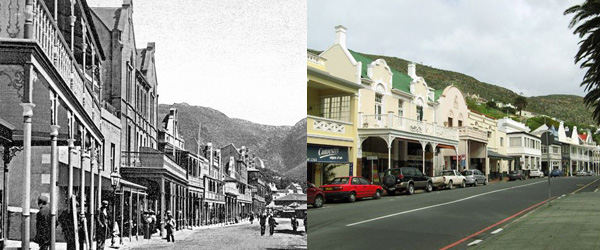 St Georges Str SimonsTown c 1900 and Today