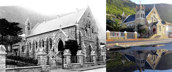 St James Catholic Church c1905 and today