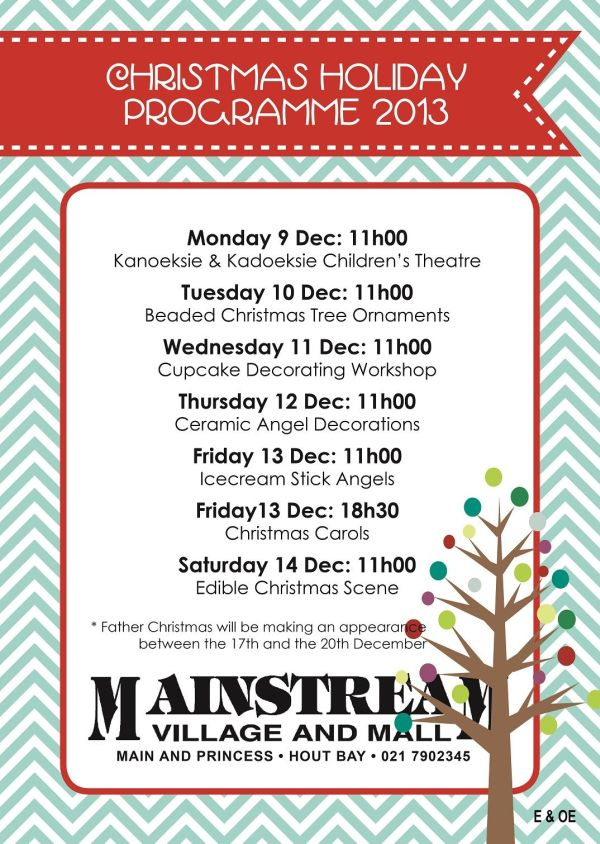 Kids 2013 Christmas Holiday Programme – Hout Bay |