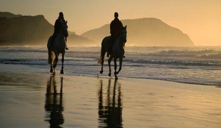 Horse-riding on Noordhoek Beach.