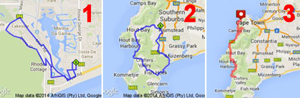 Argus Cycle Tour Training Routes