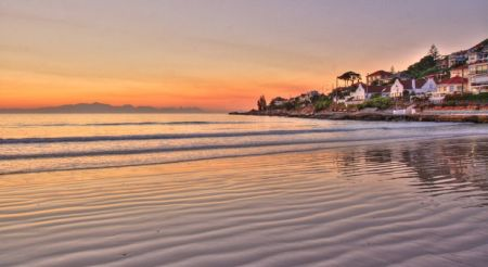 Fish Hoek Beach at Sunrise