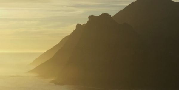 Rays of sunshine from Chapman's Peak Drive