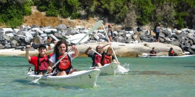 Sea Kayaking. Photo. Kayak Cape Town