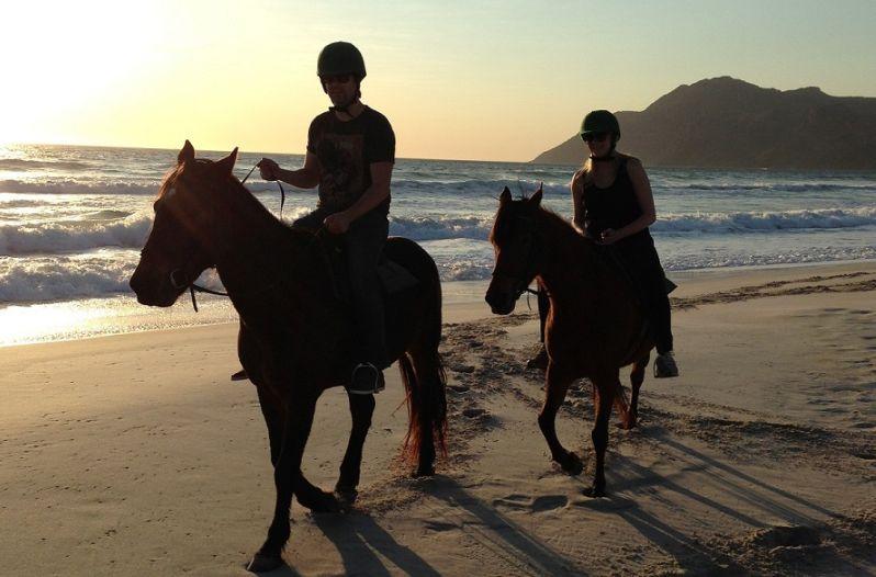 Noordhoek Beach Riding at Sunset Photo Google Images