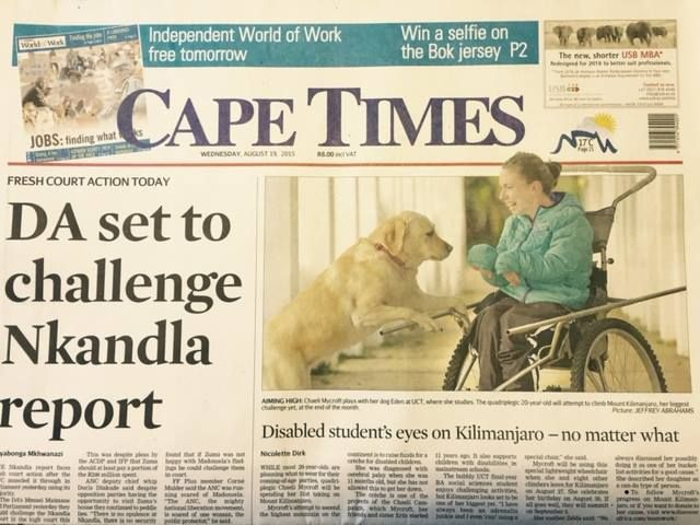 Cape Times 19 August 2015