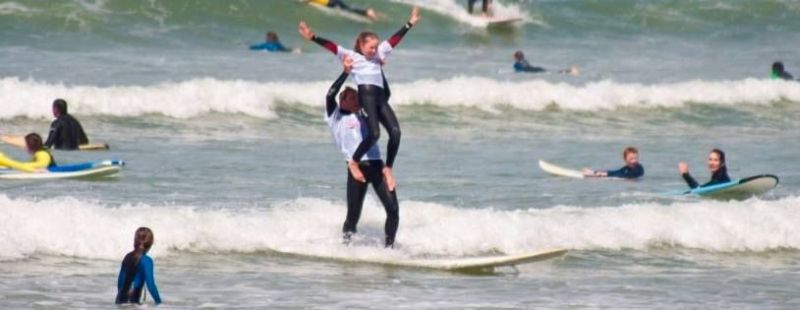 Earthwave tandem surf competition
