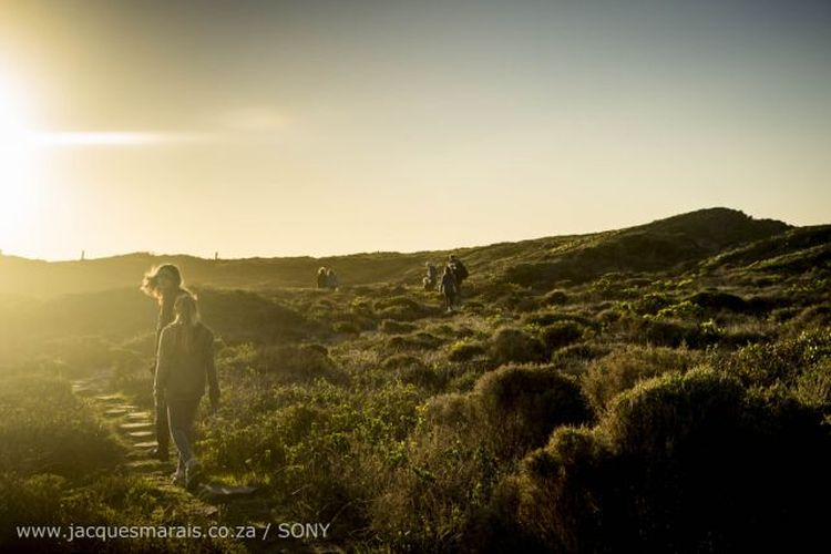 Hiking near Slangkop Tented Camp. Photo: Jacques Marais