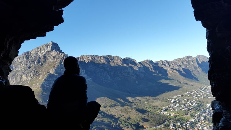 Table Mountain Hiking.  Photo. S.Grierson