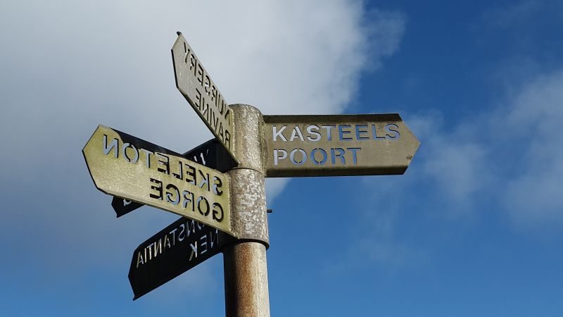 Table Mountain Signage. Photo. S. Grierson