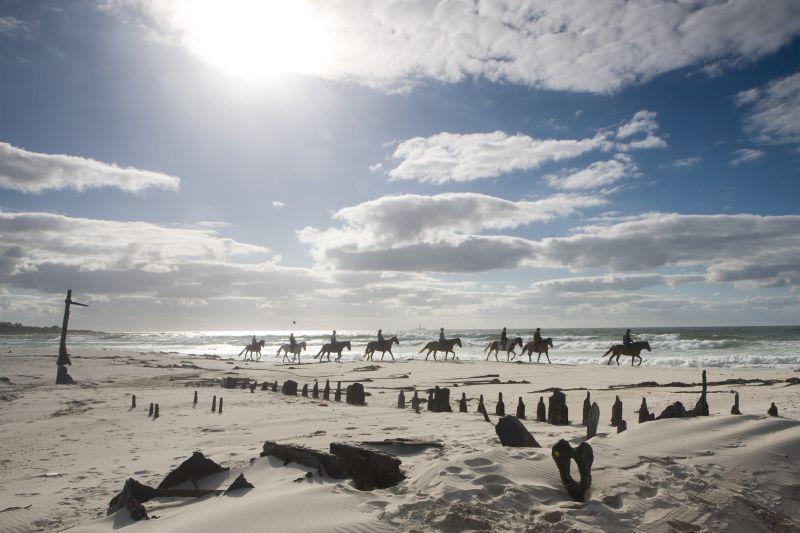 Kakapo Shipwreck on Noordhoek Beach.  Photo  ©  Peter Haarhof