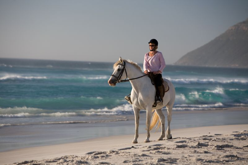Horse-riding on Noordhoek Beach Photo © Peter Haardhof
