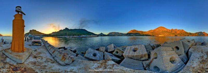Hout Bay Harbour Wall from Bay Harbour Market