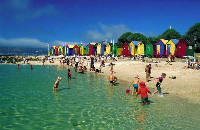 Fun at St James Beach, Cape Town