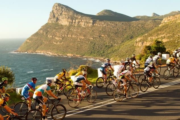 C ape Town Cycle Tour near Smitwinkel Bay.  Photo: Facebook page