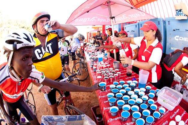 Cape Town Cycle Tour Refreshment Station. Photo: Sam Clark, Gallo Images