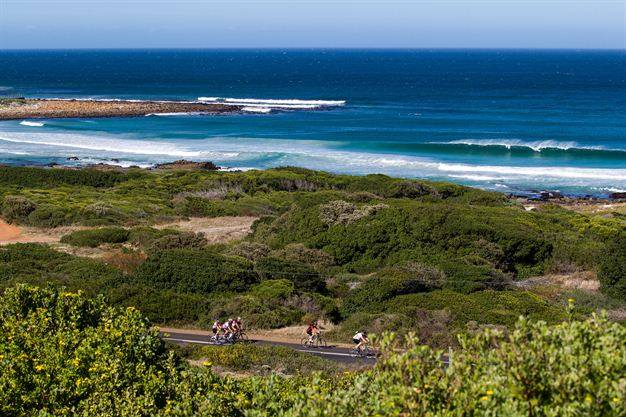 Cape Town Cycle Tour, Riders near the beach. Photo: Nick Muzik, Gallo Images