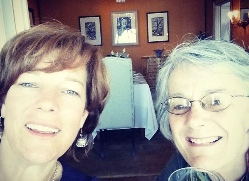 Barbara & her fabulous Mom Tory at Casa Labia