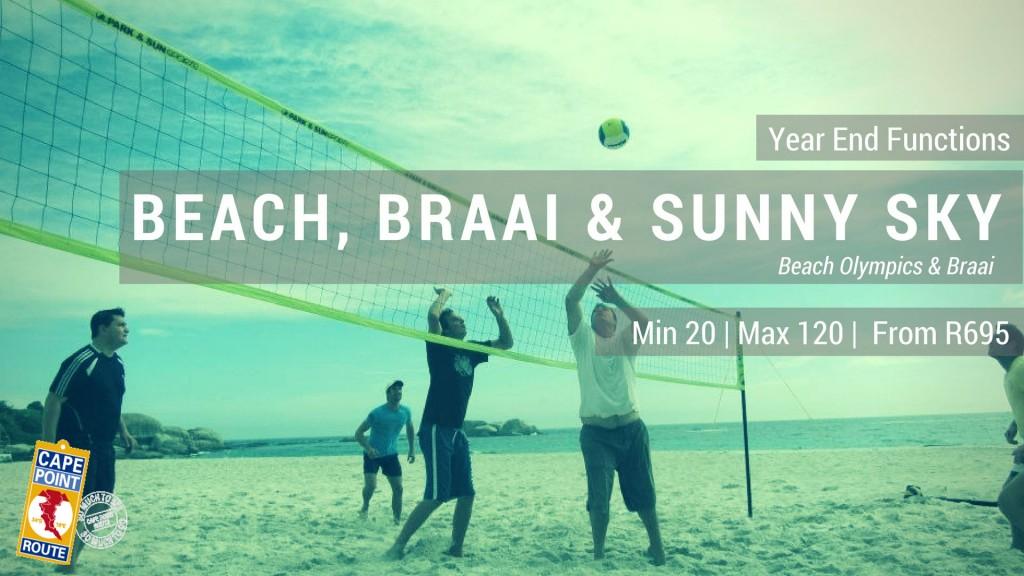 Year End Functions - Beach, Braai & Sunny Sky