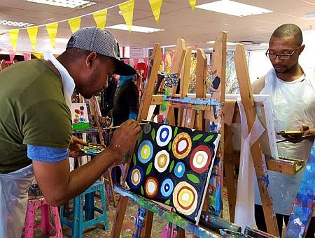 Cape Town Teambuilding - art jamming